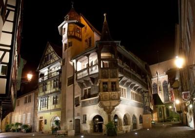 Maison Pfister de nuit à Colmar