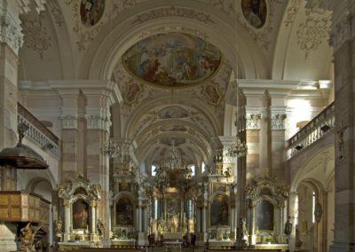 Intérieur baroque de l'abbaye d'Ebermunster