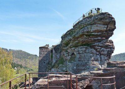 Château du Fleckenstein Piton rocheux