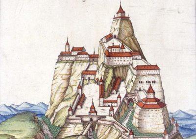 Château de Ferrette en 1589