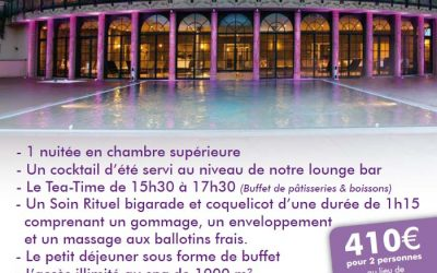 """Profitez des beaux jours à l'Hôtel & Spa """"Les Violettes"""""""
